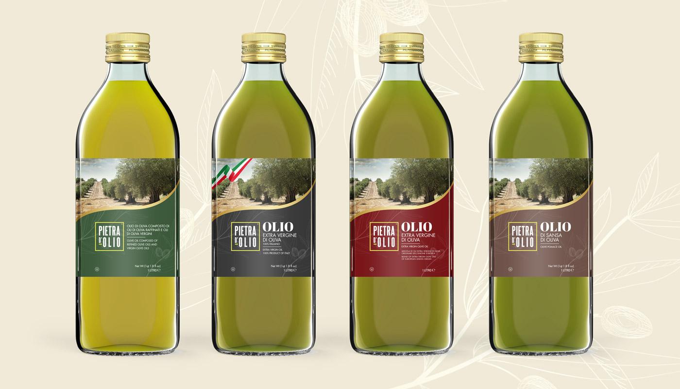 pietra-olio—bottiglie-vetro